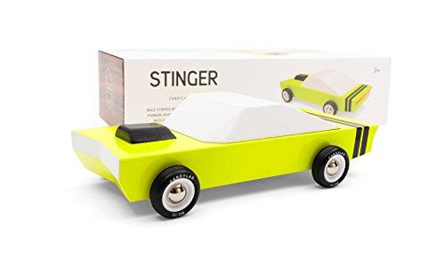 (Candylab Toys - Stinger Wooden Car - Modern Vintage Racer - Solid Beech Wood )