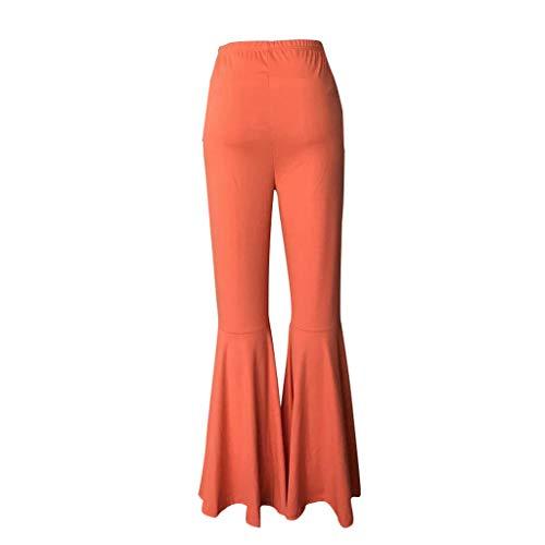 CCatyam Pants for Women, Trousers Wide Leg High Waist Solid Slim Sweatpants Sexy Casual Fashion Orange
