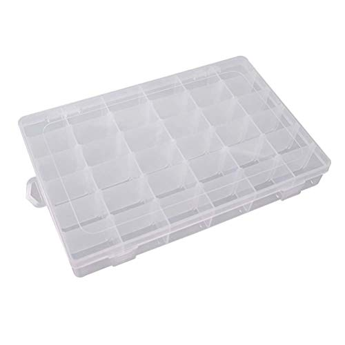 - HomeSto 1Pc 36 Grids Storage Box Ornament Bins Single Layer Thick Plastic Transparent Hand Book Stationery Paper Tape Storager Container