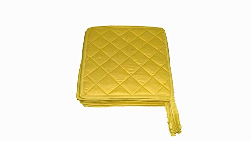 HM Covers Pot Holders 100% Cotton (Pack Of 10) Pot Holder 7'' x 7'' Square, Solid Gold Color Everyday Quality Kitchen Cooking, Heat Resistance!! by HM Covers