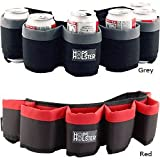 Hops Holster Beer Can Belt - Holds 6 Cans: Camo