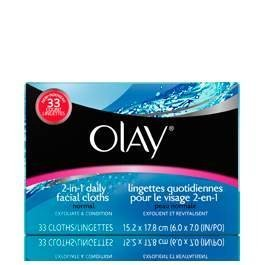 Olay 2-In-1 Daily Facial Cloths, 132 Count for Normal Skin