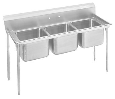 "Advance Tabco 62"" Regaline Three Compartment Sink Model 9-3-54"