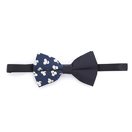 The Ideal Company Men's Popcorn Print Cotton Bow Tie One Size Indigo (Popcorn Print)