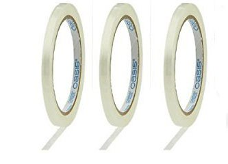 2 Rolls 1//2 Oasis Clear Flower Tape 180 ft Water Resistant w//Floral Craft Supply eGuide