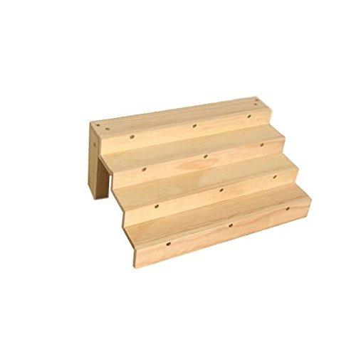 Finest Amazon.com: Small Tabletop Shelf, Wooden Display, Spice Rack, Nail  KA67
