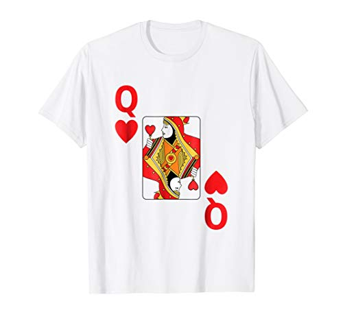 Queen of Hearts Tshirt Poker playing card halloween shirt]()