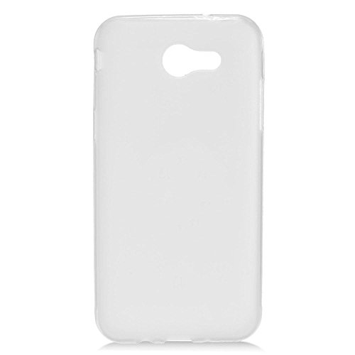 Eagle Cell Frosted TPU Rubber Candy Skin Case Cover For Samsung Galaxy Amp Prime 2/ Express Prime 2/ J3 (2017)/ J3 Eclipse/ J3 Emerge/ J3 Luna Pro/ J3 Mission/ J3 Prime/ Sol 2, White - Frosted Eagle