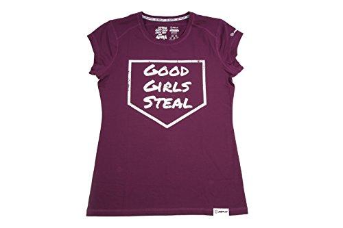 Softball Spirit Tee - Good Girls Steal (Burgundy, Medium) ()