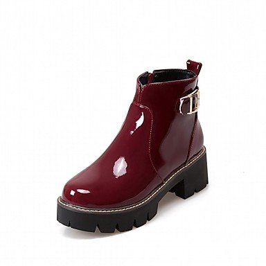 RTRY Women'S Boots Spring Fall Winter Platform Comfort Novelty Patent Leather Leatherette Wedding Office &Amp; Career Dress Casual Party &Amp; Evening US6 / EU38 / UK5 Big Kids uMCbMw