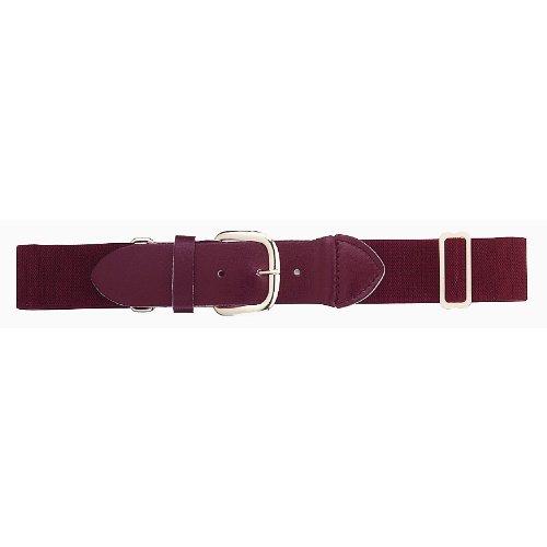 Cowhide Uniform - Baseball/softball Youth adjustable Belt, Maroon