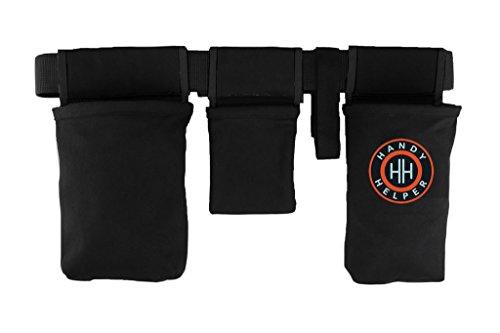 Handy Helper Tool Belt, Organizer, Carrier for Home, Garden, RV - Black Piping by The Helper Brands