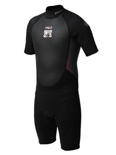 - Body Glove Men's Pro3 2/1mm Springsuit Wetsuit - Black/Grey/Lime - S