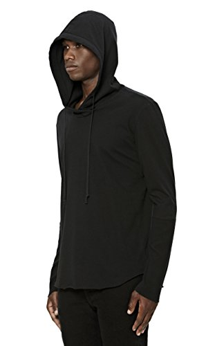 Uncommon Thrds Mens Thermal Cuff Hoodie Black - X Large by UNCOMMON THRDS