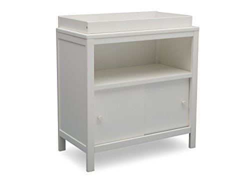 Delta Children Changing Table with Storage Space, Convertible Changing Unit, Bianca White by Delta Children