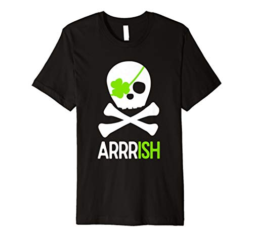 St. Patricks Day Shirt Irish Pirate Skull and Cross bones