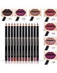 NICEFACE 12 Color Lip Pencil – Soft Waterproof Smooth Lip Liner/Lipliner Pen