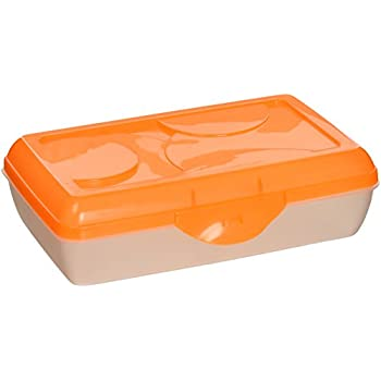 Sterilite Neon Orange Pencil Case Box