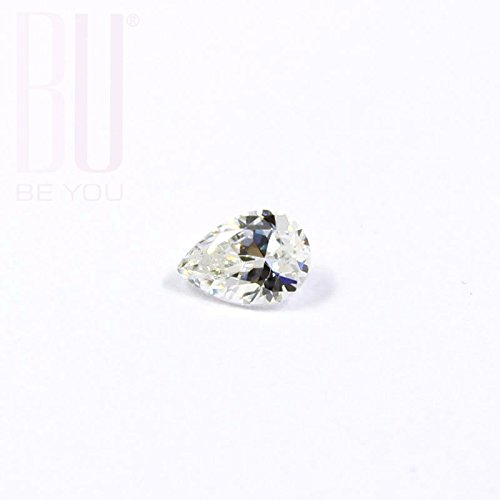 BE.YOU. Be You White Cubic Zirconia AAA Quality 4x5 mm Diamond Cut Pears Shape 100 pcs loose gemstone
