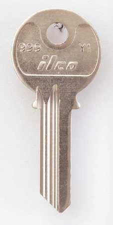 Key Blank, Brass, Type Y1, 5 Pin, PK10