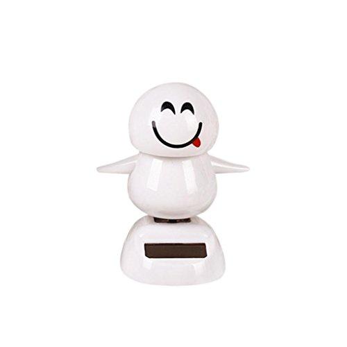 Ratchet Girl Halloween Costume (Christmas Snowman Solar Powered Shaking Head Dancing Animal Swinging Car Decor Emoji,Sulear White F)