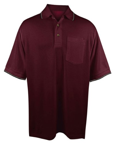 (Tri-Mountain Men's 7.8 oz 60/40 Moisture-Wicking Golf Shirt - 117 Conquest)