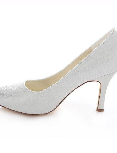 De Marfil 4in Zapatos mujer rojo Blanco 3in Fiesta Boda ivory Zq Vestido Punta Noche Y Redonda tacones tacones boda 3 3 O5qZH