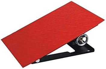 高さ調節が可能な車椅子スロープ、屋外メタルカースロープの安定ノンスリップトライアングルパッド家族ガレージ縁石ランプ 段差プレート・スロープ (Color : Red, Size : 40*30*12~20CM)