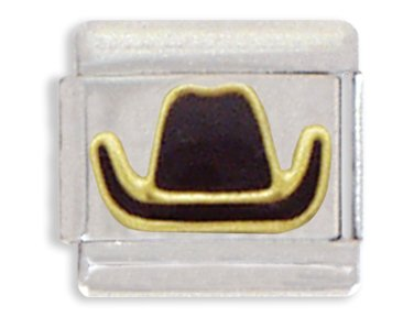 Cowboy Hat Italian Charm Bracelet Link