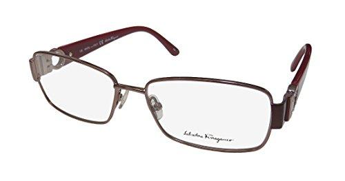 SALVATORE FERRAGAMO Eyeglasses SF2124R 213 Shiny Light Brown 54MM