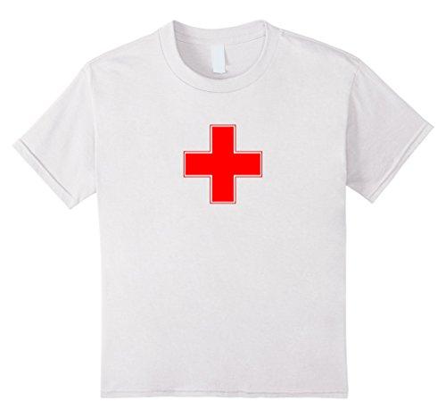 Kids Vintage Lifeguard Red White T-Shirt 8 (Lifeguard Halloween Costume Kids)