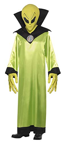 Smiffy's Men's Alien Lord Costume, Robe, Mask And Hands, Legends Of Evil, Size: -
