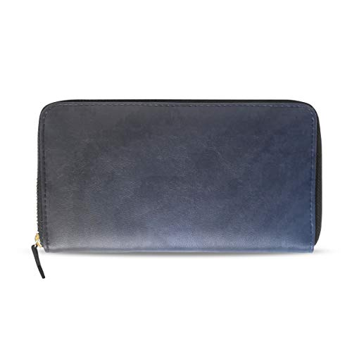 Womens Wallets Big Lightning Leather Passport Wallet Change Purse Zip Handbags ()
