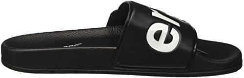 Superga Unisex-Erwachsene Slides PVC Slipper Weiß  (Black-White)