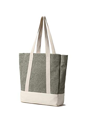 Canvas Tote Bag Handbag Shoulder Bag Or Crossbody Bags Purses For Men And Women (Salt & Pepper Green)]()