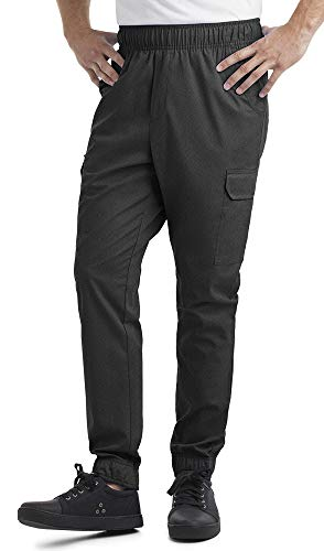 Men's Stretch Jogger Chef Pant (XS-3X, 2 Colors) (X-Large, Black) (Ultimate Chef Pants)