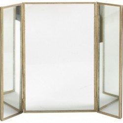 Miroir triptyque en laiton: Amazon.fr: Cuisine & Maison