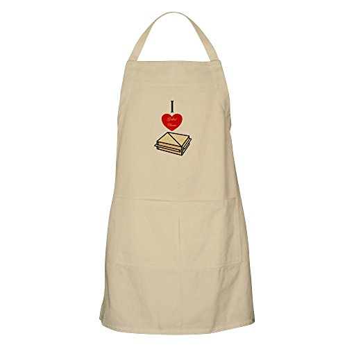 CafePress I Love Grilled Cheese BBQ Apron Kitchen Apron with Pockets, Grilling Apron, Baking Apron