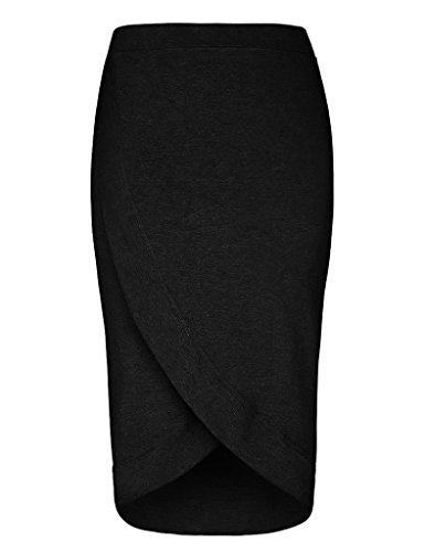 GownTown-Womens-Stretchy-Slim-Fit-Midi-Pencil-Skirt