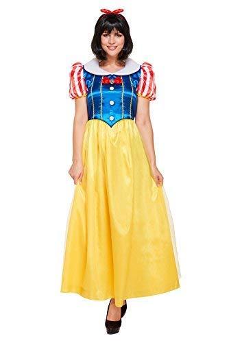 Rosa Principessa Costume fiaba donna Halloween UK 8 10 12