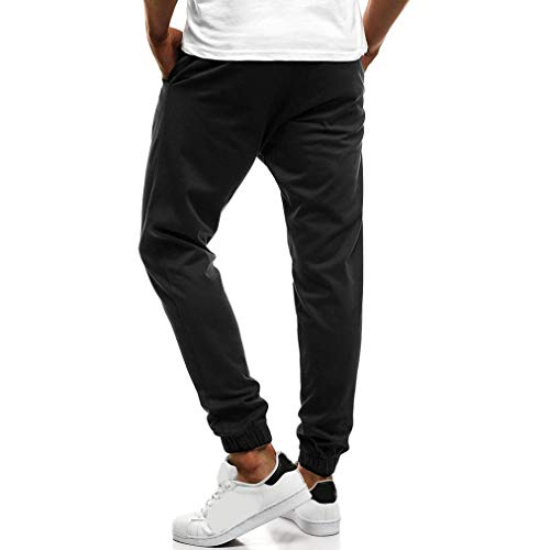 Realdo Clearance Fashion Men's Button Down Sport Fitness Belts Daily Casual Drawstring Jogger Pant(XX-Large,Black) by Realdo (Image #1)