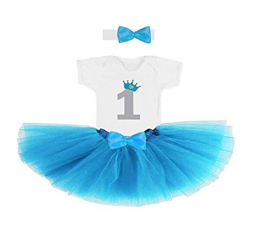 Conjunto primer cumpleaños 1 año para bebe nena azul (body o ...