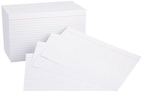 AmazonBasics 5 x 8-Inch Ruled White Index Cards, 500-Count