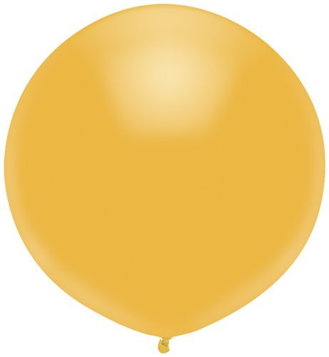 Single Source Party Supplies - 17'' Radiant Gold Outdoor Latex Balloons - Case of 720 by Single Source Party Supplies