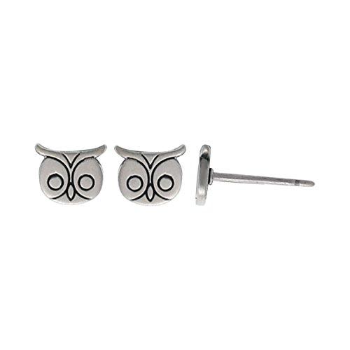 Boma Jewelry Sterling Silver Owl Stud Earrings