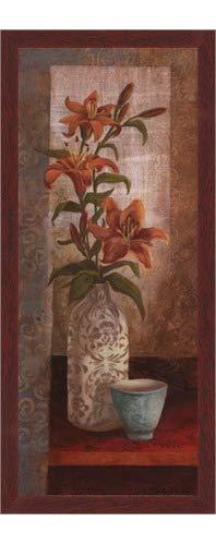 (Poster Palooza Framed Spiced Jewels I - Mini- 8x20 Inches - Art Print (Walnut Brown Frame))