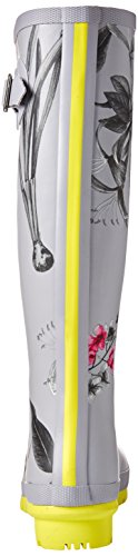 Joules Women's Slvbrby Print Silver Welly rqrxXZH