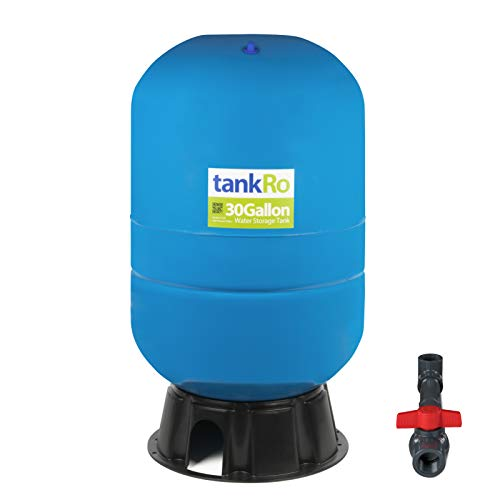 30 Gallon RO Expansion Tank - Large Reverse Osmosis Water Storage Pressure Tank by tankRO - with FREE Tank Ball Valve