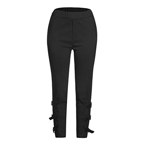 iTLOTL Womens Casual Harem Baggy Hip Hop Dance Jogging Sweat Pants Slacks Trousers(Black ,M)