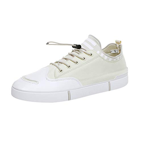 TANGSEN Men's Leisure Fashion Shoes Comfortable Outdoor Non-Slip Casual Platformed Boards Shoes Walk Shoes Beige
